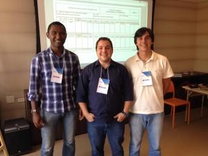 Jorge, Bruno e Higor, desenvolvedores do Programa Nexxus.