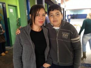 Eduardo e a mãe, Josefa.