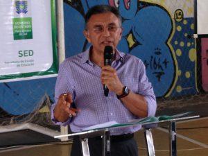 Juiz federal Odilon de Oliveira alerta os estudantes sobre os riscos do uso de drogas