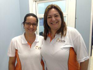 Tereza Cristina e Rubia, professoras do Sefe.