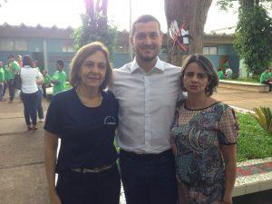Sandra, Marcio e Adriane. Coordenadora e diretores da escola.