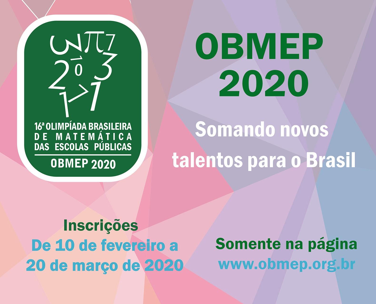 Resultado de imagem para OLIMPÍADA DE MATEMÁTICA 2020